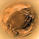 Panorama de la descente sur Titan