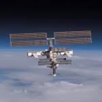 La Station Spatiale Internationale sur l'Horizon
