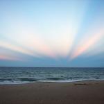 Rayons anticrépusculaires au-dessus de la Floride
