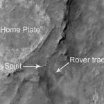 Spirit vu depuis l'orbite martienne
