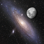 La Lune au-dessus d'Andromède