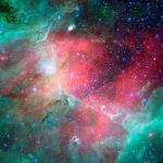 La Nébuleuse de l'Aigle en infrarouge