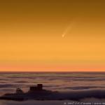 La comète MacNaught au-dessus de la Catalogne.