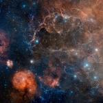 Le rémanent de supernova de Vela en lumière visible