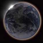 Eclipse vue depuis la Lune