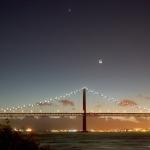 Coucher de Lune sur Lisbonne