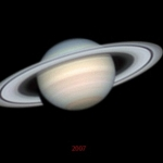 Saturne sur 4 ans