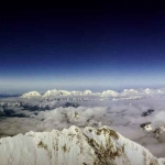 La Vue au sommet de l'Everest