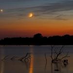 Planètes au-dessus du lac Pony Express