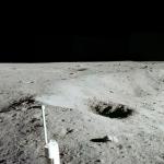 Apollo 11 et le panorama du cratère Est