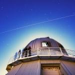 La Station Spatiale Internationale au-dessus de l'Observatoire du Mont Megantic