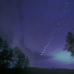Une éclipse totale de Lune au dessus de la Caroline du Nord