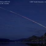 Eclipse au Lac Kalamalka