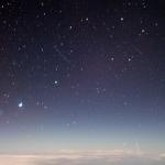 Les Aurigides vues à 14300 mètres d'altitude