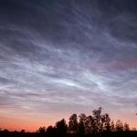 Nuages noctiluques au-dessus de la Suède
