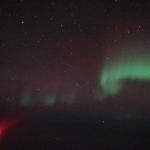 Les météores des Quadrantides et une aurore vues d'avion