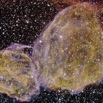 DEM L316 : Deux restes d'explosion de supernova