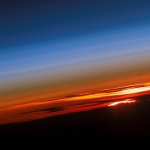 Coucher de Soleil sur la planète Terre