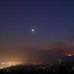 Planètes et feux de forêts au clair de Lune