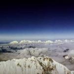 La vue depuis le sommet de l'Everest
