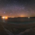 Panorama céleste au-dessus du lac Salda