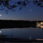 Lune dans la Mullica -