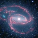 NGC 1097, l'oeil était dans le ciel