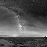 Le ciel au-dessus de Séquoia National Park