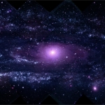 La grande galaxie d'Andromède en ultraviolet