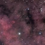Les piliers d'étoiles de Sharpless 171
