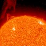 Protubérance solaire vue par STEREO -