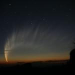 La magnifique queue de la comète Mac Naught%u2028