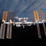 La Station spatiale internationale au-dessus de l%u2019horizon