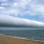 Un nuage en rouleau au-dessus de l'Uruguay