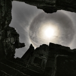Un halo solaire au dessus du Cambodge