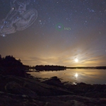Coucher de Lune sur Pleasant Bay