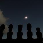 Eclipse sur l'île de Pâques