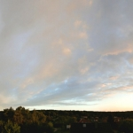 Arc-en-ciel au coucher du Soleil