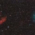 La comète Hartley et la nébuleuse Pacman