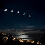 Eclipse au coucher de Lune