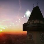 Eclipse partielle sur Graz