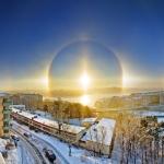 Halo solaire sur Stockholm -