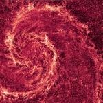 La poussière de la galaxie du Tourbillon en infrarouge