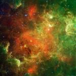 La nébuleuse « Amérique du Nord » en infrarouge