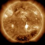 Eruption solaire de classe X