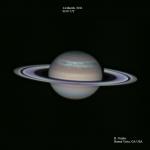 La tempête du Serpent sur Saturne -