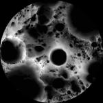 Ombres sur le pôle sud de la Lune