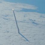 Une navette au-dessus des nuages