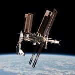 Navette, Station spatiale et ATV sur une même image -