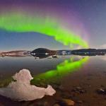 """Aurores polaires sur la """"Terre verte"""""""